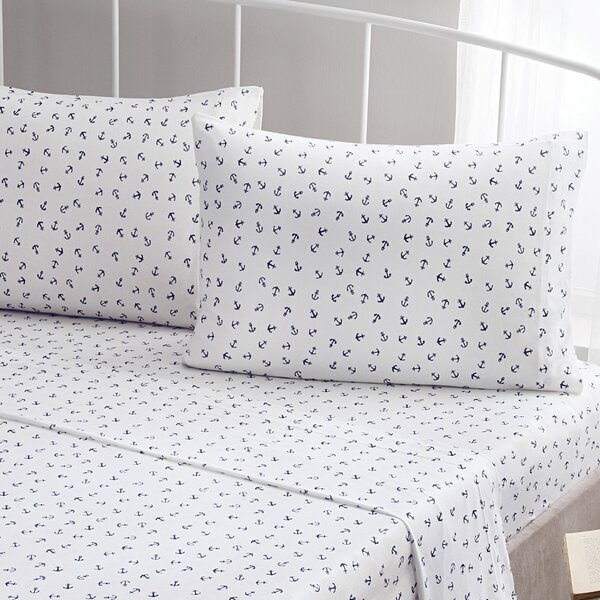 Anchor Jersey 100% Cotton Sheet Set by Brielle